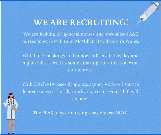 WE ARE HIRING! McMillan Healthcare